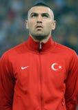 Burak Yilmaz no jogo do qualificador do campeonato do mundo de Roménia-Turquia Fotos de Stock