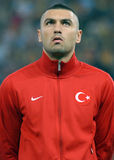 Burak Yilmaz in Romania-Turkey World Cup Qualifier Game Stock Photos