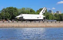 Buran - орбитальный советский многоразовый космический корабль Стоковая Фотография