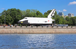 Buran - orbital Soviet reusable space ship. Delivered in the Gorky Park as a scientific and educational attraction  in Moscow, Russia Stock Photography