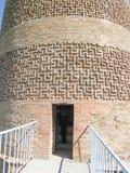 Burana forntida bosättning Ingång till tornet Arkivfoton