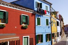 Burano in  Italy Royalty Free Stock Photos