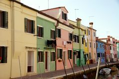 Burano in Italy Stock Photography