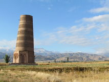 Burana Tower. Ancient defense tower in Kyrgyzstan Stock Image