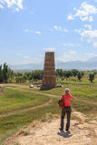 Burana Tower. An architectural monument of the XI century. Kyrgy Stock Photography