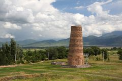 Burana tower.Historical sight stock photography