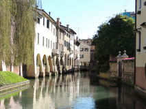 Buranelli Treviso. The Buranelli Channel is one of the most picturesque branches of Botteniga channel which characterizes the historical center of Treviso. Its royalty free stock photography