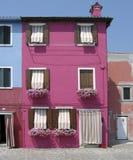 burano五颜六色的房子 图库摄影