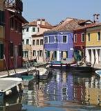 Burano在威尼斯-意大利 库存照片