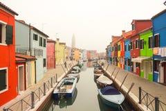 Burano在威尼斯 库存照片