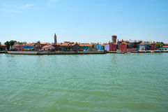 burano海岛意大利 库存图片