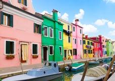 Burano海岛,威尼斯,意大利 库存照片