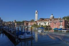Burano海岛-威尼斯式盐水湖-意大利 免版税库存照片