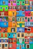 Burano的团结的颜色 免版税库存图片