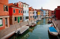 Burano ö, Venedig, Italien Arkivbild