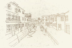 Burano ö, Venedig, Italien arkivfoton