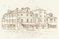 Burano ö, Venedig, Italien royaltyfria bilder