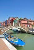 burano ζωηρόχρωμη Βενετία Στοκ φωτογραφίες με δικαίωμα ελεύθερης χρήσης