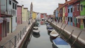 Burano Венеция Италия видеоматериал