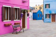 Burano, Венеция, Италия Стоковое фото RF