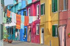 Burano, Венеция Стоковые Фотографии RF