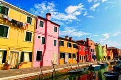 Burano, Италия Стоковые Изображения