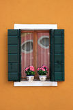 Burano. Typical colored windows of Burano, Venice, Italy Stock Photography