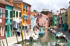 Burano Photographie stock