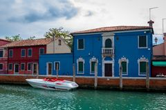 Burano Blue House Stock Photography