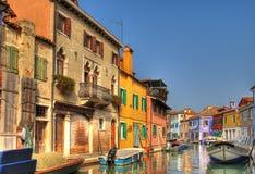Burano bonito, Italy. Foto de Stock Royalty Free