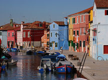 Burano canal Stock Photos