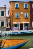 Burano Canal Royalty Free Stock Photography