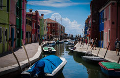 Burano Canal italy Royalty Free Stock Images