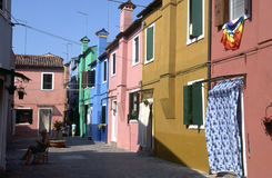 Burano 01. Burano, the city of the lace makers royalty free stock photo