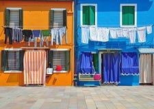 Burano coloré, Italie Image libre de droits