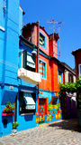 Burano colorful houses. Venice, Italy Stock Images
