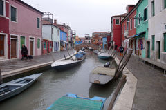 Burano - colorful island in the Venetian Lagoon, Italy. Royalty Free Stock Photography