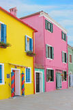 Burano colorful town in Italy Stock Image