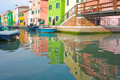 Burano colorful town in Italy Royalty Free Stock Photography
