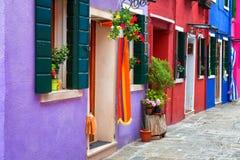 Burano, colorful walls Royalty Free Stock Photos