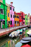 Burano colorido Fotos de archivo