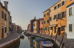 Burano colorido, Venecia, Italia Imagenes de archivo