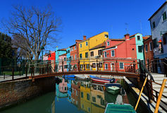Burano coloured domy obrazy royalty free