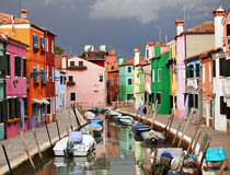 Burano colours Stock Image