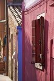 Burano, détail de rue Photo stock