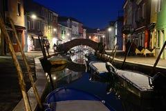 Burano Den färgrika byn i den Venetian Lagunaen Royaltyfri Foto