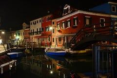 Burano Den färgrika byn i den Venetian Lagunaen Royaltyfria Bilder