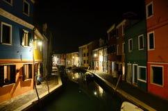 Burano Den färgrika byn i den Venetian Lagunaen Arkivfoton