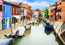 Burano-Dorf nahe Venise Stockfotografie