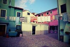 Burano est une île près de Venise en Italie du nord célèbre pour le son Photo stock